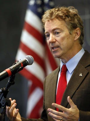 Rand Paul, shown in March, has been noticeably absent from some of the hot-button debates of recent weeks.
