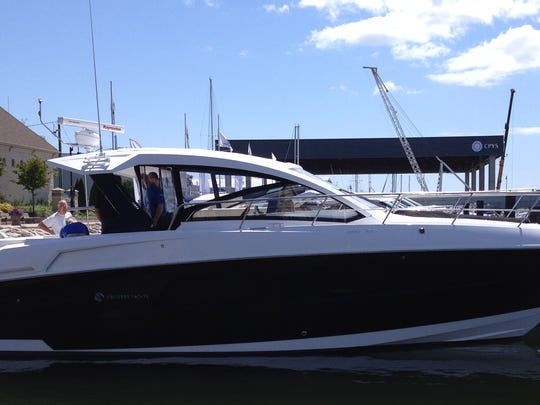 The new 390 Express Coupe is the new yacht built and launched by Cruisers Yachts, Oconto, on July 19.