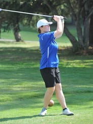 Abby Underwood tees off at Valley View.