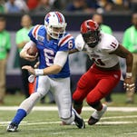 Former Louisiana Tech quarterback Jeff Driskel (6) is confident he'll run a fast 40-yard dash time at Saturday's NFL Combine.