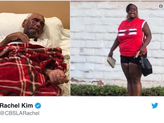 A tweet from Rachel Kim of CBS Los Angeles shows photos of Rodolfo Rodriguez and a woman at the scene.