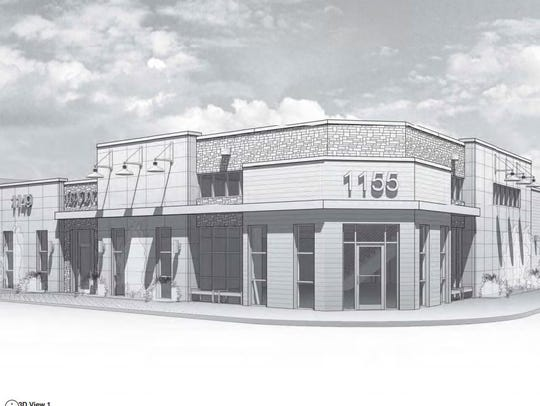 A rendering of the proposed building Cyrus Development