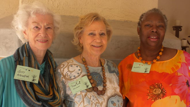 Betty Alexander, from left, Daphne Wilson and Audrey Palmer