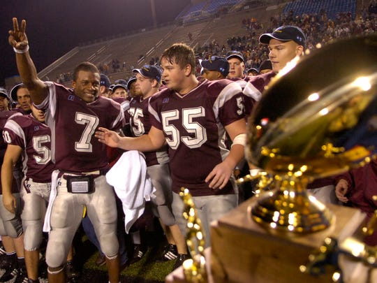 Randall Cobb (7) won four state championships at Alcoa.