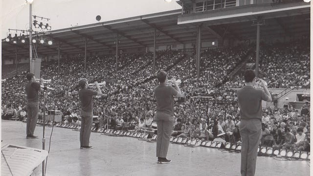 The 1969 Kids from Wisconsin perform at the State Fair.