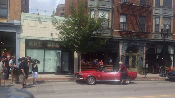 Guy Fieri gets out of his car on Wednesday outside Bakersfield in Over-the-Rhine. From Enquirer reader Brian Everett.