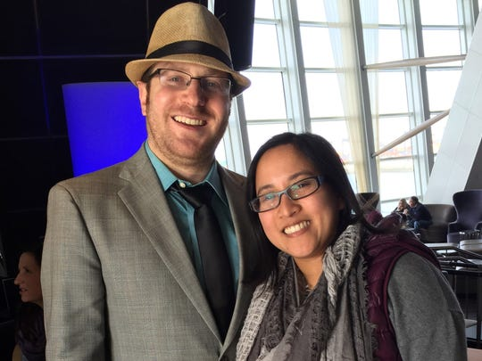Kevin Ginsburg, 28, of Royal Oak, and his wife, Veronica