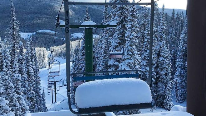 Showdown Montana received between 14 and 16 inches of snow during the winter storm on Dec. 3.