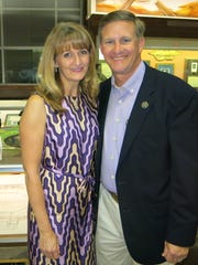 Melanie Peacock and hubby, state Sen.  Barrow  Peacock,