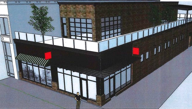 Design plans for the former Copper Lounge site filed in advance of Wednesday's Board of Historic Preservation meeting.
