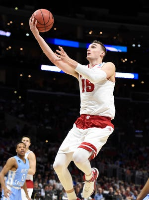 Sam Dekker rose up for a career-high 23 points in Wisconsin's Sweet 16 win against North Carolina.