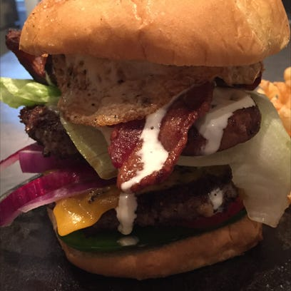 The Day After  Burger at Roots Restaurant Tavern features