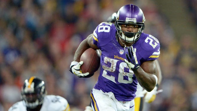Entering the 2015 season, Vikings RB Adrian Peterson will have played one game in 20 months.