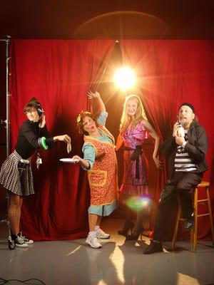 "Cori Anne Laemmel, left, Martha Wilkinson, Morgan Davis and Brian Russell perform in ""Noises Off."""