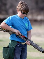 Valley View 4-H Club member Hayden Lovelady clears