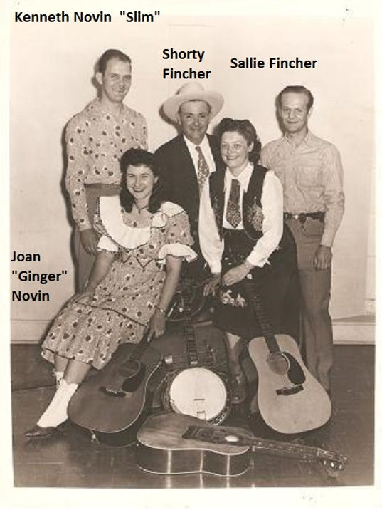 Audrey Lerew shared this photo she found at the York County History Center, with names she added of some of the people pictured, all of whom were known for their work at Valley View Park in Hellam TOwnship. The man at right could possibly be Clyde Fogel, who played with the Finchers and Novins, or one of many other musicians who worked with the group.