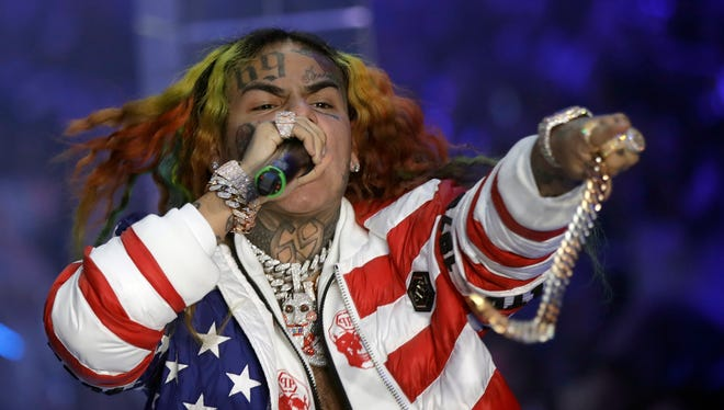 Rapper Daniel Hernandez, known as Tekashi, performs during the Philipp Plein women's 2019 Spring-Summer collection, unveiled during the Fashion Week in Milan, Italy,.