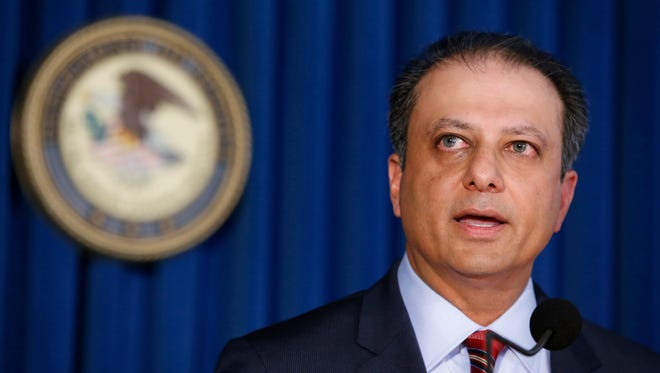 Former U.S. Attorney Preet Bharara in New York on March 11, 2017.