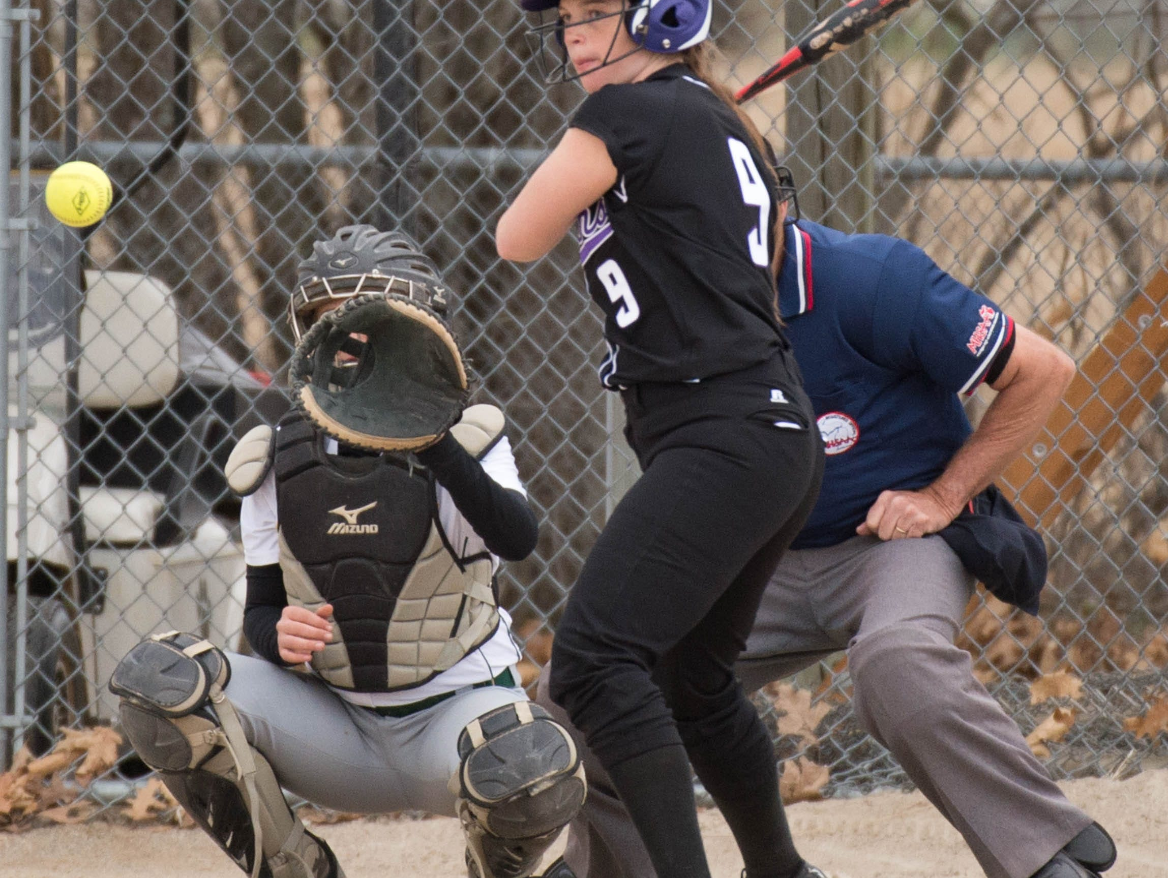 Lakeview's Shelby Sanchez (9) at bat during a recent game against Pennfield.