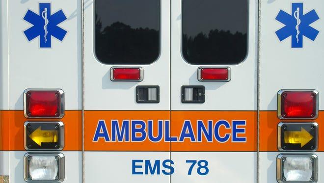 Rear doors of an ambulance.