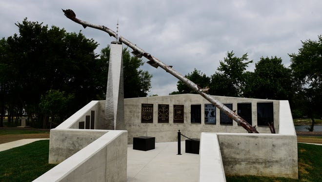 A 36-foot-long, 7,000-pound section of an antenna that was atop the North Tower of the World Trade Center is the focal point of the new Public Service Safety Memorial in Gibsonburg, honoring and remembering law enforcement, fire and EMS across the country.