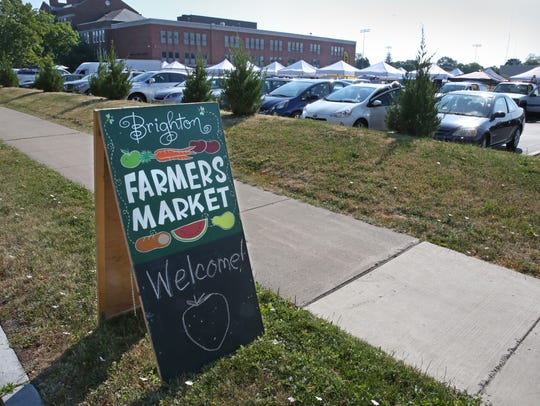 The Brighton Farmers Market is located in the parking