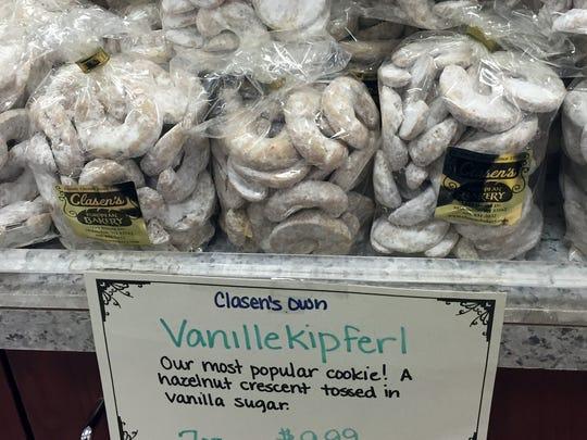 Vanillekipferl from Clasen's European Bakery in Middleton.
