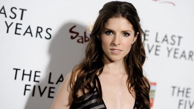 """Actress Anna Kendrick arrives at the LA Premiere of  """"The Last Five Years"""" in Los Angeles on Feb. 11, 2015. Kendrick has a deal for a collection of autobiographical essays, Touchstone announced Thursday, April 16."""