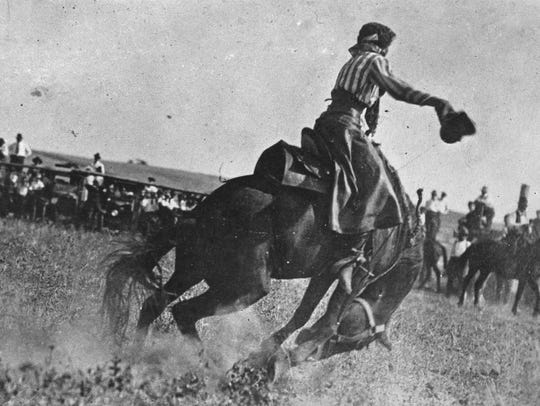 "Fannie Sperry Steele earned the title ""Lady Bucking"