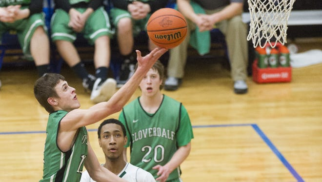 Cloverdale's Cooper Neese averages 28 points a game, once scored 53, and has Stephen Curry range on 3-pointers. In this 2015 game, he drove the ball to the rim against Crispus Attucks.