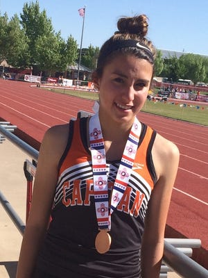 Adrianna Romero, of Capitan High School, finished in sixth place in the girls high jump at the state Track and Field Championships in Albuquerque May 6 and 7.