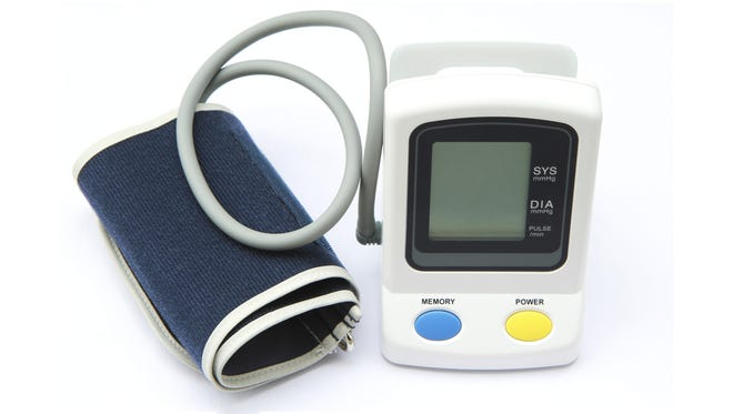 It's advised to check you blood pressure with at-home monitors, widely available at drug stores and super centers, and online.