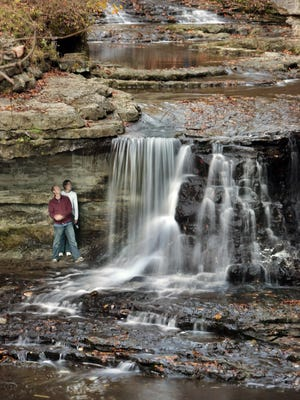 A waterfall at McCormick's Creek.