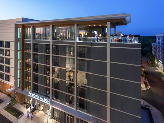 AC Hotels by Marriott will be the boutique hotel built within the Cascades Project. The $30-million, seven-story hotel includes 154 rooms, meeting space and a rooftop bar. Pictured here is the AC Hotel Raleigh North Hills