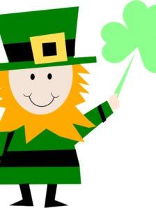 Irish Man Celebrating St. Patricks Day Clip Art