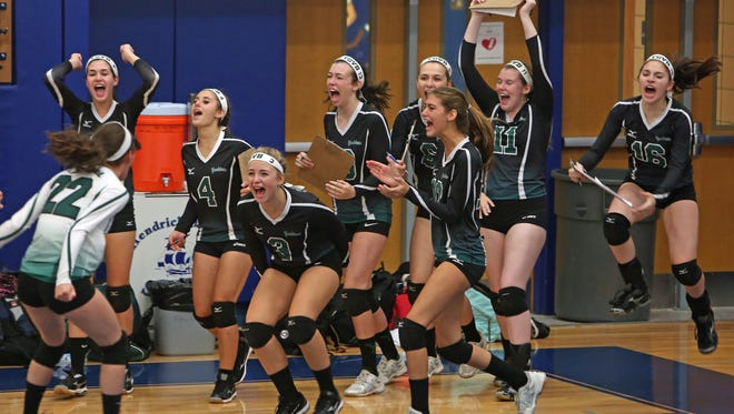 Hendrick Hudson swept all three games from visiting Yorktown during volleyball action at Hendrick Hudson High School in Montrose Sept. 10, 2015.