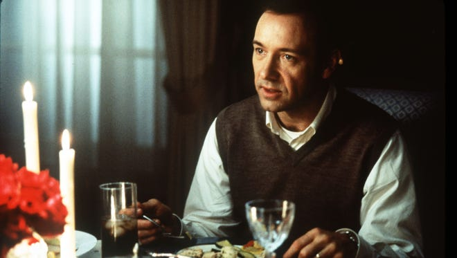 Kevin Spacey in a scene from the film 'American Beauty.'