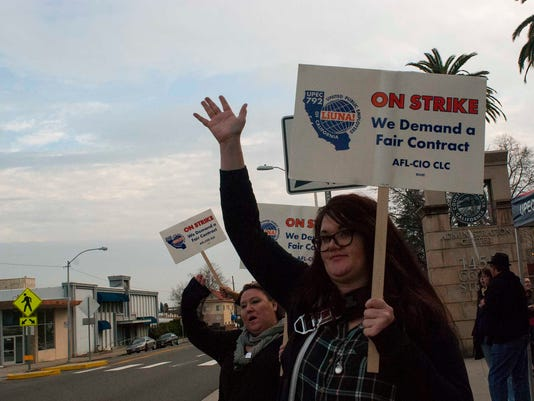 Day three of the strike in Shasta County