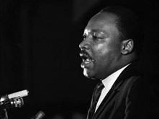Dr. Martin Luther King Jr. makes his last public appearance at the Mason Temple in Memphis, Tenn., on April 3, 1968. The following day he was assassinated on his motel balcony.