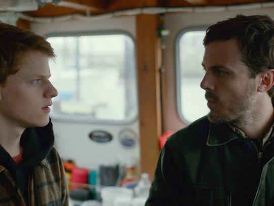 """Lucas Hedges (left) and Casey Affleck star in """"Manchester"""
