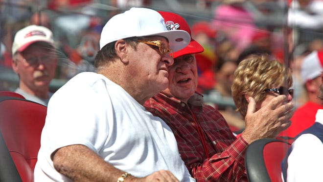 All-time hits leaders and former Cincinnati Reds player and manager, Pete Rose.