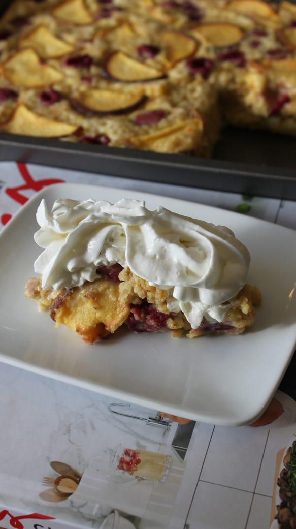 Chrissy Teigen's Yellow Cake Baked Oatmeal