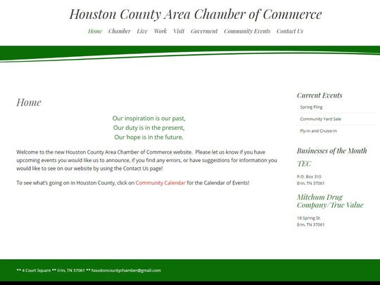 The Houston County Area Chamber of Commerce website