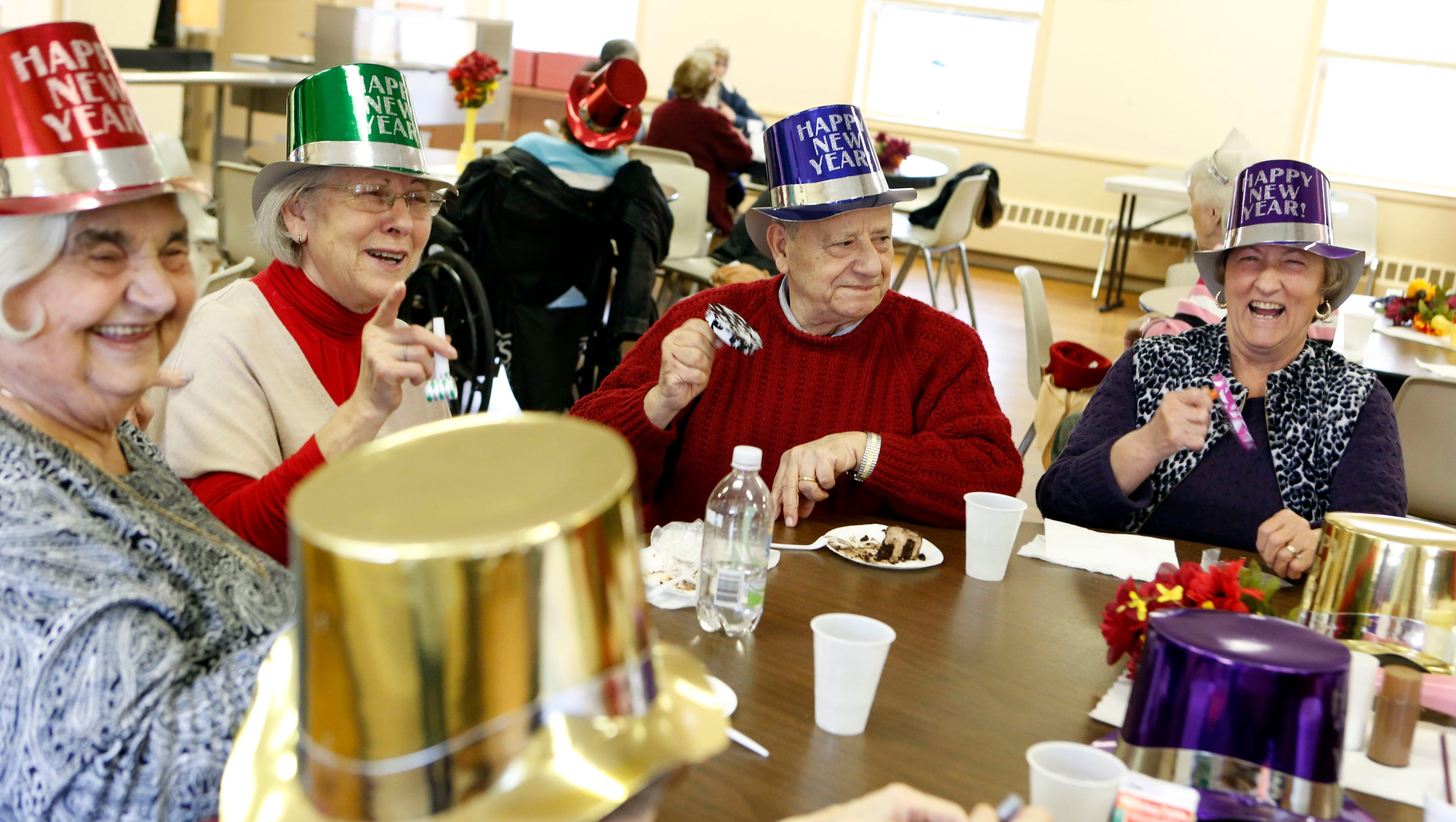 Senior citizens ring in the new year in Larchmont