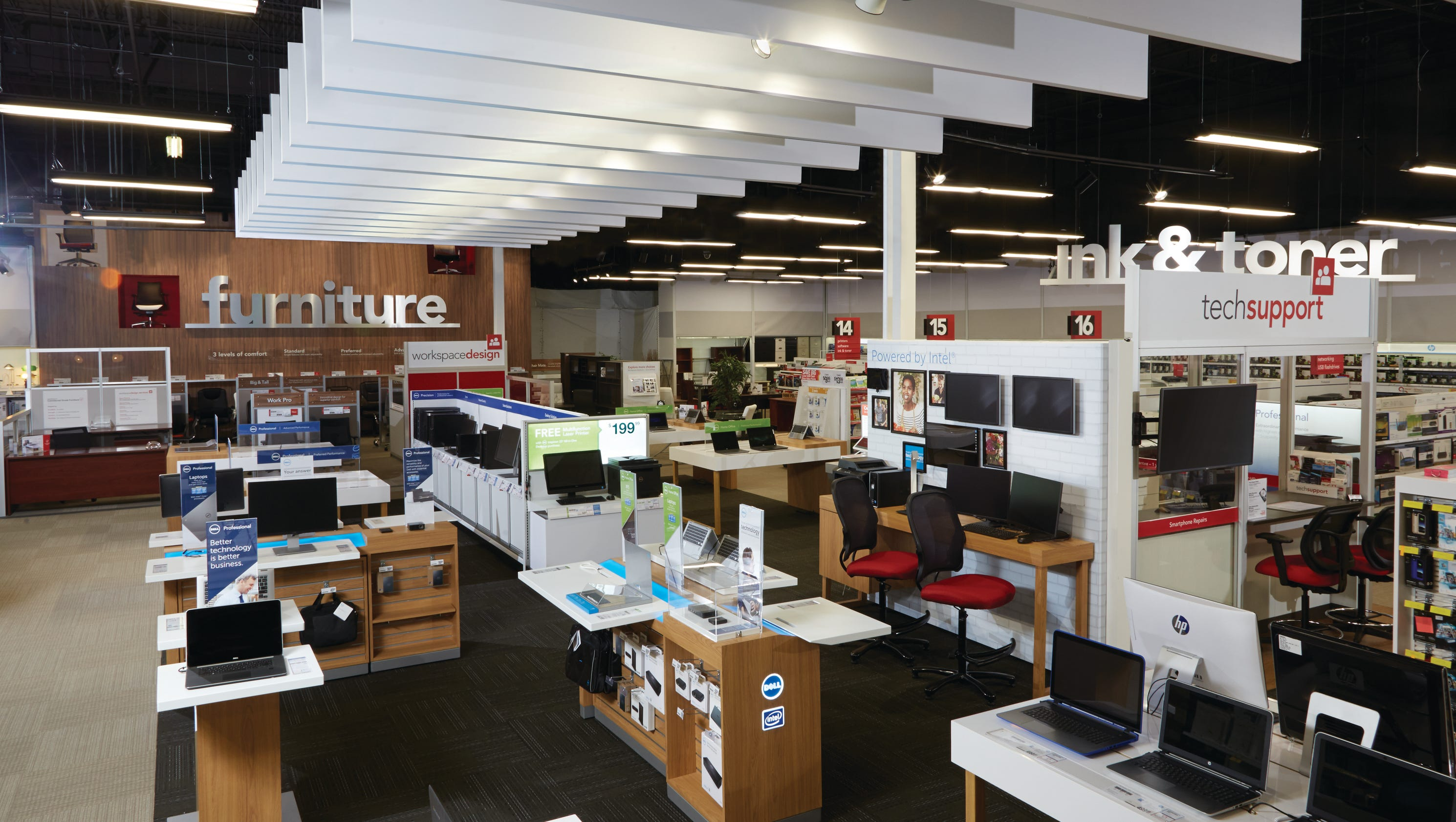 office depot remodels for 39 store of the future 39. Black Bedroom Furniture Sets. Home Design Ideas