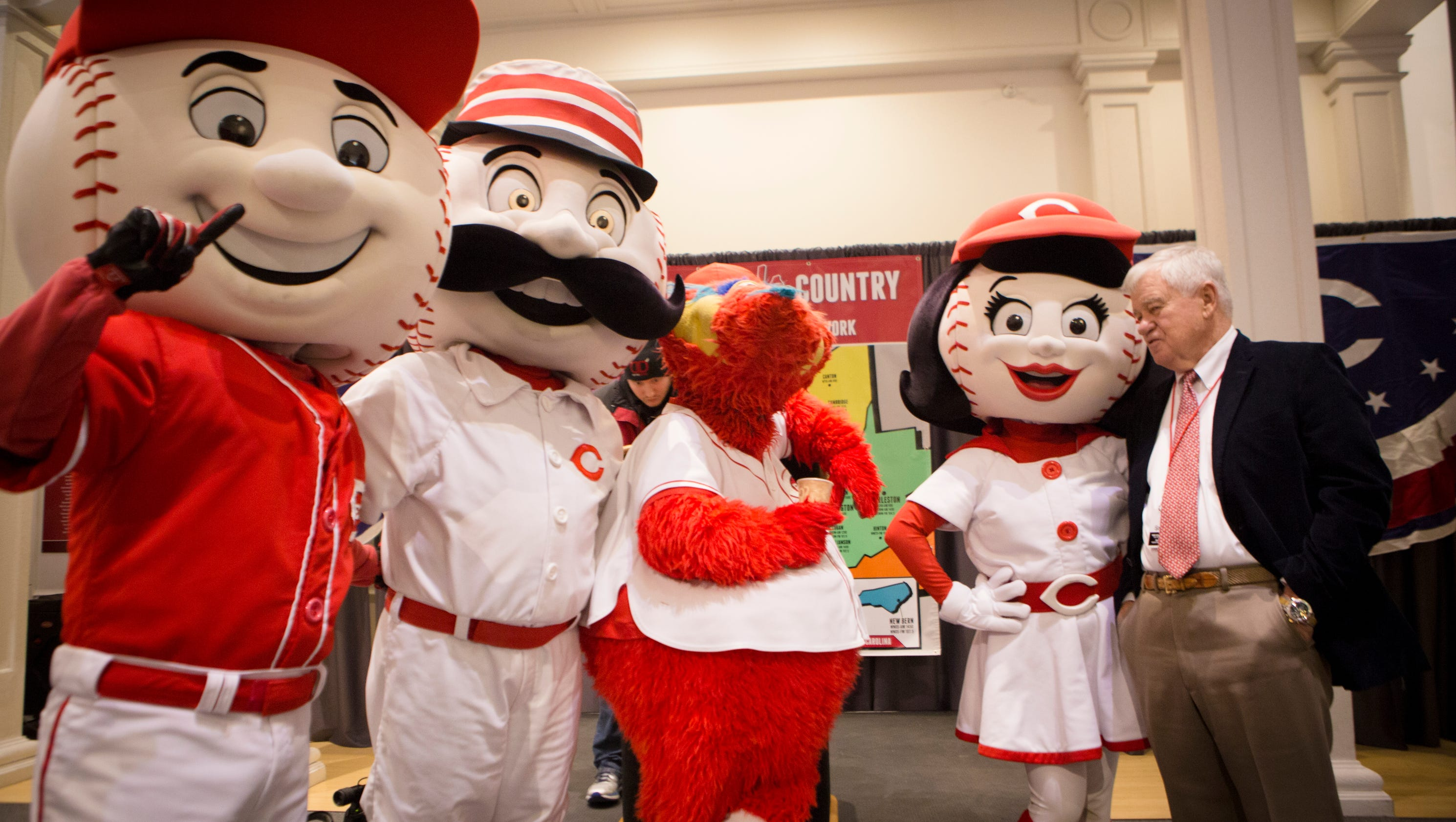 Greeneville Reds Logo Is Mr Redlegs With Raccoon Hat