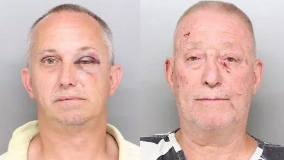 Elmwood Place Mayor Bill Wilson (left) and his husband, village maintenance supervisor Bill Smith, were arrested after a drunken fight at home Saturday night, according to St. Bernard Police.