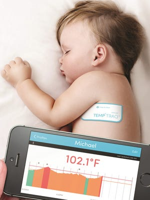 The TempTraq is a patch with Bluetooth thermometer that users track with a mobile app.