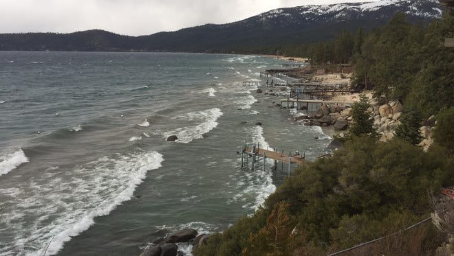 Waves near Incline Village on Dec. 11, 2014.