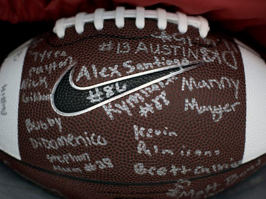 A ball for the Muckenfuss family, signed by Washington
